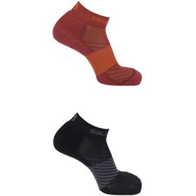 Salomon XA Hardloopsokken 2 Pack rood/zwart